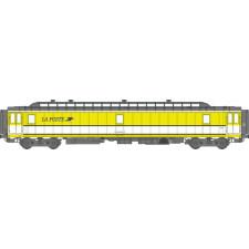 Voit. POSTALE OCEM 21,6 m Ep.IV-V - PAZ  jaune et bande blanche, toit