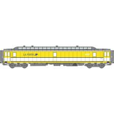 Voit. POSTALE OCEM Ambulant 21,6 m Ep.IV - PAZ  jaune et bande blanche