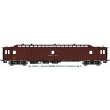 AMBULANT 21,6 m Ep.III - PAz brun PTT, châssis noir, Bogie Y2 N°45562