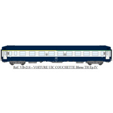 UIC Couchettes TH A4c4B5c5x Bleue/Gris béton, logo encadré blanc Ep.IV
