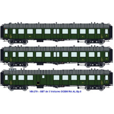 SNCF SET de 3 OCEM RA (C 9yfi 11205 / C 9yfi 11207 / C4Dyi 11906) AL E