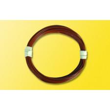 Extradünnes Spezialkabel 0,6 mm d, 5 m, braun