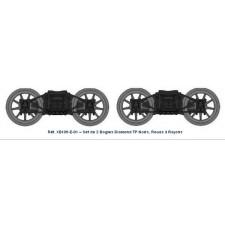 Set de 2 bogies Diamond TP Noir - roues a rayons