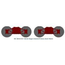 Set de 2 bogies Diamond TP Brun - roues pleines