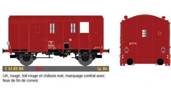 Uk, rouge, toit & chassis rouge noir, marquage central, avec feu fin d