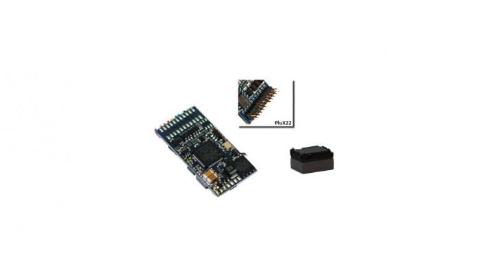 LokSound 5 DCC/MM/SX/M4 -Leerdecoder-, PluX22, Retail, mit Lautspre