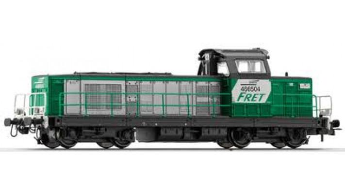 Locomotive Diesel BB66504 Fret, nouvelle immatriculation ##