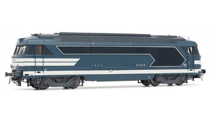 Locomotive Diesel BB 67368 livrée bleue - SNCF SONORISEE #