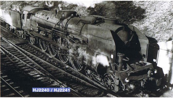 Locomotive à vapeur 241, tender 34 P, époque IIIb #