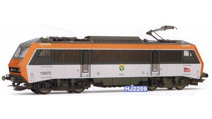 Locomotive électrique BB 26000, livrée béton, nouveau logo SNCF #