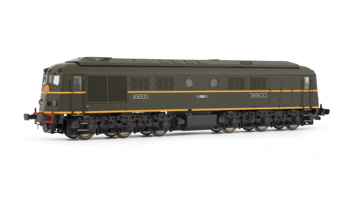 Locomotive Diesel 060 DA 1 Livrée verte châssis noir SNCF époque III
