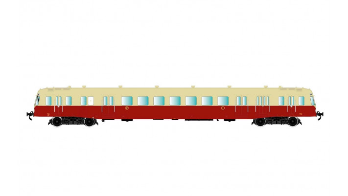 SNCF, diesel railcar class X 2400 without smoke deflectors in beige/re