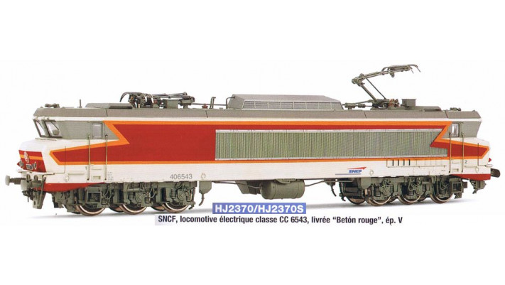 SNCF, loco CC 6543 in  Betón rouge   , period IV, with digital sound d