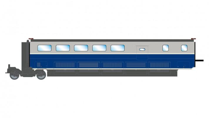 SNCF, TGV 2N2 EuroDuplex, bar coach, period VI, complementary coach fo