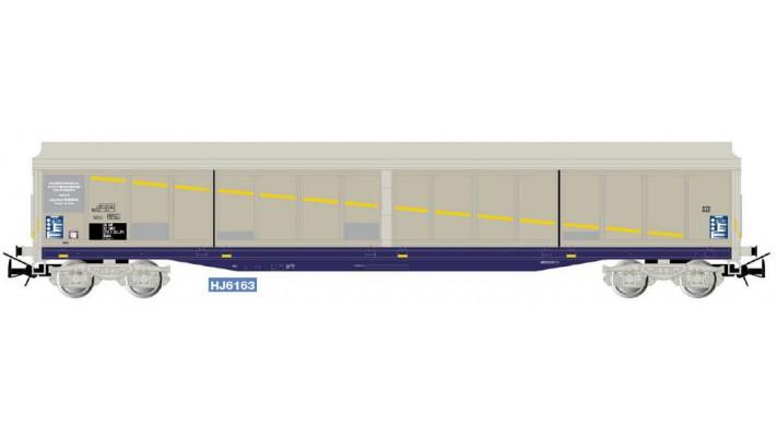 SNCF, 4-axle sliding-wall wagon Habils, rented to  Brasserie Kronenbou
