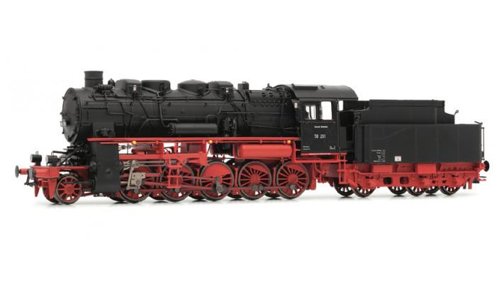 DR, BR 58 steam locomotive, four-dome version, epoch III