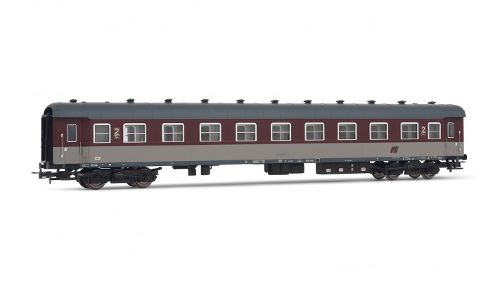 Set 2 coaches Type 1959 FS, 1st+2nd class, rosso fegato live
