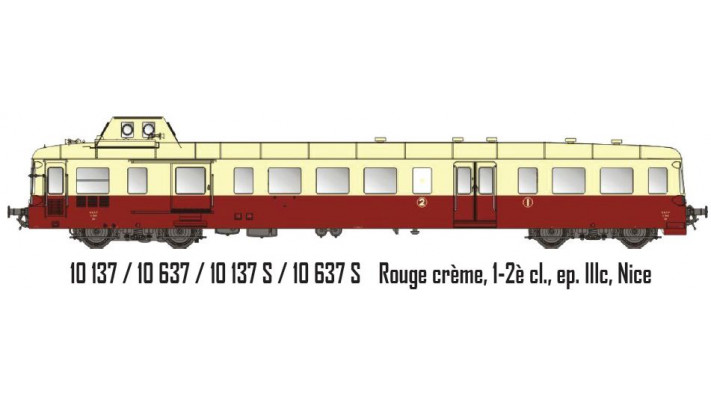 Picasso Rouge crème, 1-2è cl., ep. IIIc, Nice 3 rails