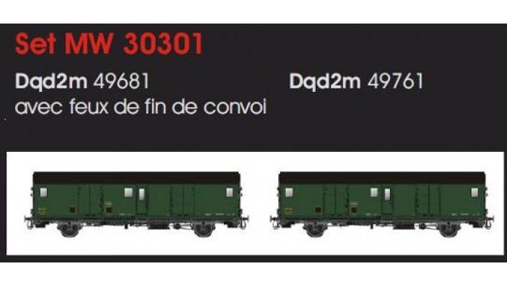 2 FOURGON METALLISE EX MIDI SNCF - /IIIb