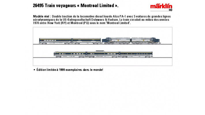 Train voyageurs ''Montreal limited'',Ep. III