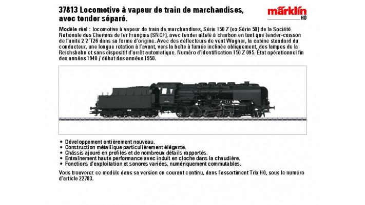 Locomotive Série 150 Z (ex Série 50) SNCF