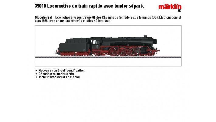 Schnellzug-Dampflok BR 01 DB
