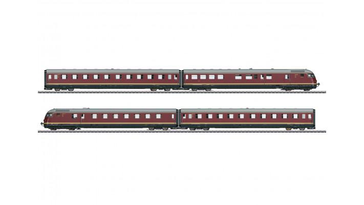 Train automoteur TEE Diesel VT 08.5 Paris-Ruhr - DB époque III