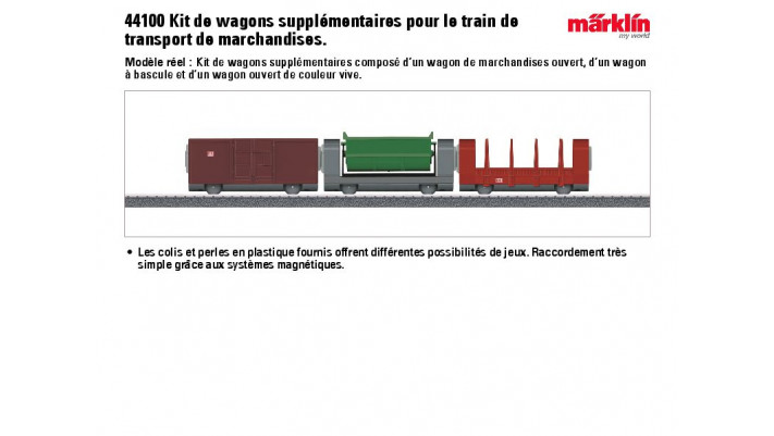 Wagons supplémentaires pour train de transport marchandises MYWORLD