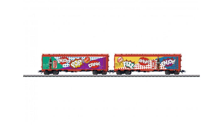 Coffret de deux wagons réfrigérants US , privat ,époque ----------