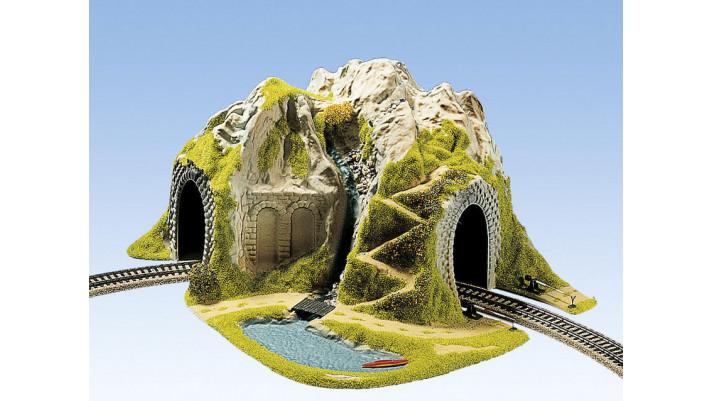 Tunnel d'angle, 1 voie, 41 x 37 cm