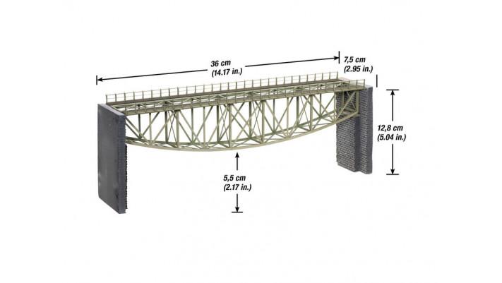 Pont à arc inversé+culées