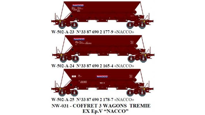 """N  W502A12  TREMIE EX Ep.V  N°33 87 690 2 1779 """"NACCO"""" / N  W502A13  T"""