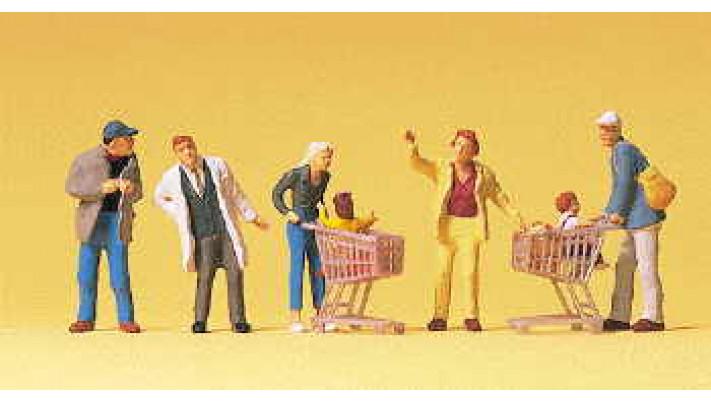 personnages allant faire des courses
