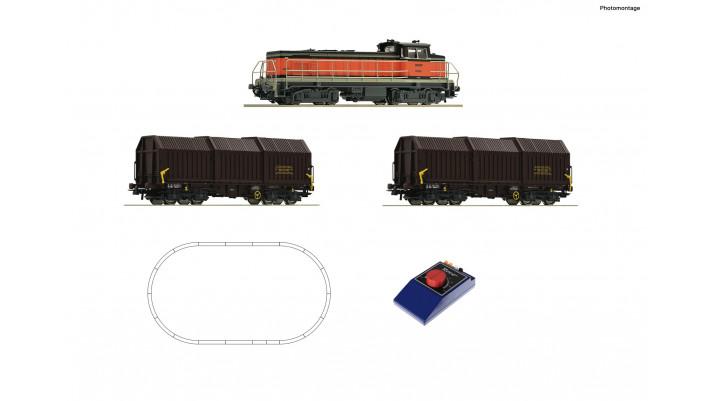 Coffret de démarrage analogique: Locomotive diesel BB 63000 avec train