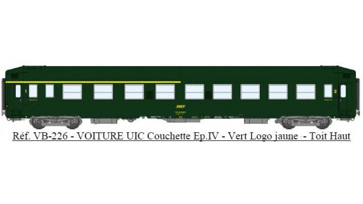 UIC Couchettes TH A4c4B5c5x, VERT 301, logo encadré jaune Ep.IV