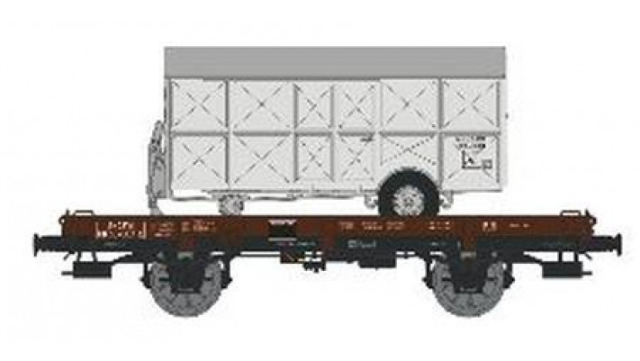 Wagon UFR Monoporteur Ep.III  Remorque Argentée N°NUMERO