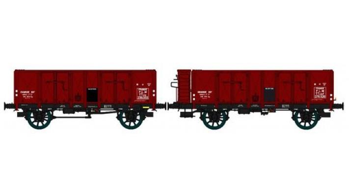 Set de 2 Wagons TOMBEREAU OCEM 29 Ep.II  PLM  Type B Tôlé avec et sans