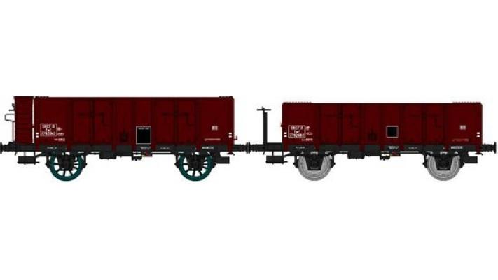 Set de 2 Wagons TOMBEREAU OCEM 29 Ep.III  Type B Tôlé Plateforme ou Gu
