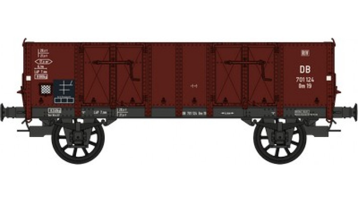 Set de 2 Wagons TOMBEREAU Om LUDWIGHAFEN Ep.III  DB  Caisse tolee