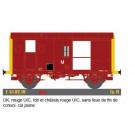 Uk, rouge UIC, toit & chassis rouge UIC, sans feu fin de convoi,IV,SNC