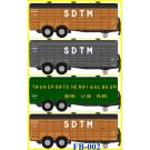 SET de 4 remorques UFR à double essieux  Position PARKING  SDTM