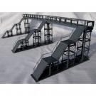 F2 - Fußgängersteg (mit 3 Treppenaufgängen) , grau