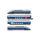 SNCF, TGV 2N2 EuroDuplex, 4-unit pack including motorized head, dummy