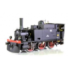 FS, steam locomotive Gr. 851, with electric lamps, high wooden coal bo