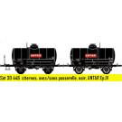 Coffret de 2 wagons OCEM citerne avec/sans passerelle, noir ANTAR