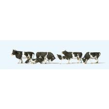 Set de 6 vaches noires et blanches #