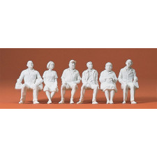 voyageurs assis 6 figurines