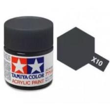 X10 gris acier - brillant -  Tamiya - peinture acrylique 10 ml