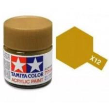X12 or metallisé - brillant -  Tamiya - peinture acrylique 10 ml
