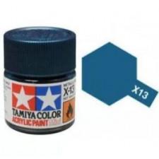 X13 bleu metal - brillant -  Tamiya - peinture acrylique 10 ml